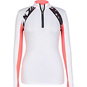 Tail Women's iDot Pique ¼-Zip Mock Neck Golf Pullover