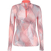 Tail Women's Brushed Jersey ¼-Zip Mock Neck Golf Pullover