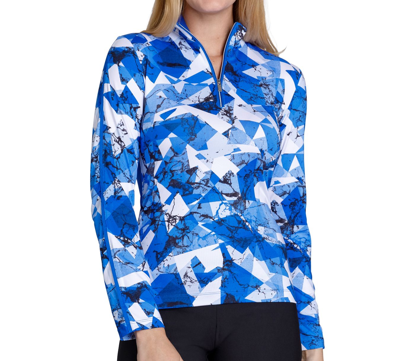 Tail Women's Printed Pattern Golf 1/4 Zip