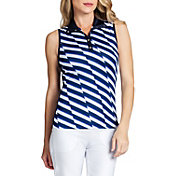 Tail Women's Sleeveless Snap Collar Golf Polo