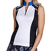 Tail Women's Sleeveless ¼ Zip Color Block Golf Polo