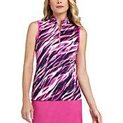 Tail Women's Sleeveless ¼-Zip Mock Neck Golf Top