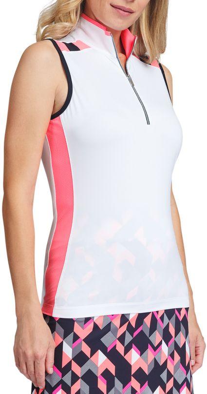 Tail Women's Sleeveless ¼ Zip Mock Neck Golf Polo