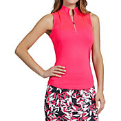 Tail Women's Sleeveless ¼ Zip Mock Neck Golf Top