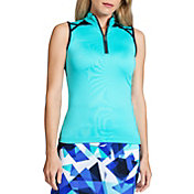 Tail Women's Sleeveless High-Low ¼ Zip Golf Top