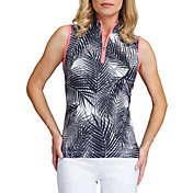 Tail Women's Sleeveless ¼ Zip Mock Neck Golf Polo