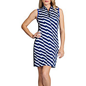 Tail Women's Sleeveless ¼ Zip Mini Mock Neck Golf Dress