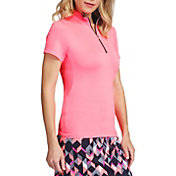 Tail Women's Short Sleeve ¼ Zip Mock Neck Golf Polo