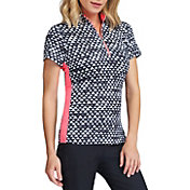 Tail Women's Neve Short Sleeve ¼ Zip Mock Neck Golf Polo