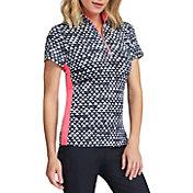 Tail Women's Neve Short Sleeve ¼ Zip Mock Neck Golf Polo