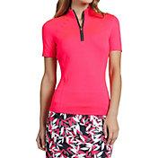 Tail Women's Short Sleeve ¼ Zip Golf Mock Neck