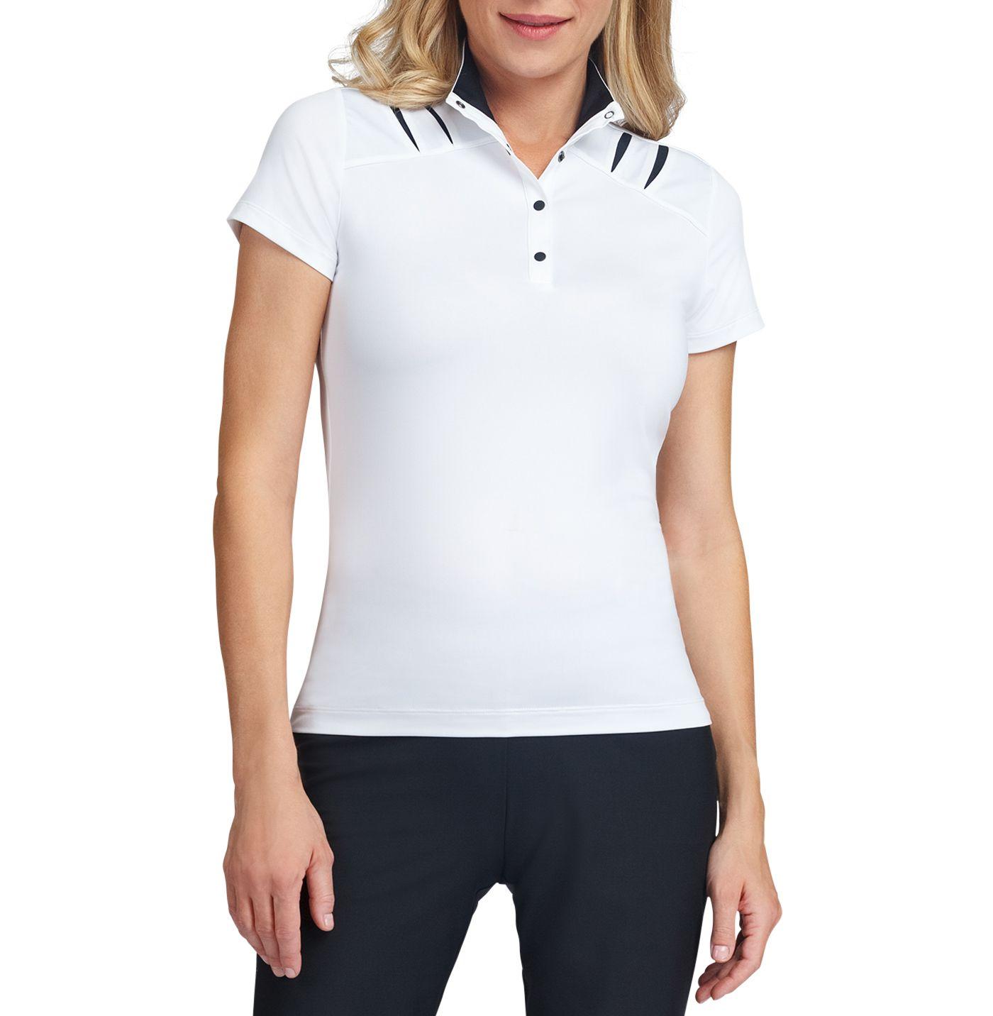 Tail Women's Snap Button Mock Neck Golf Polo