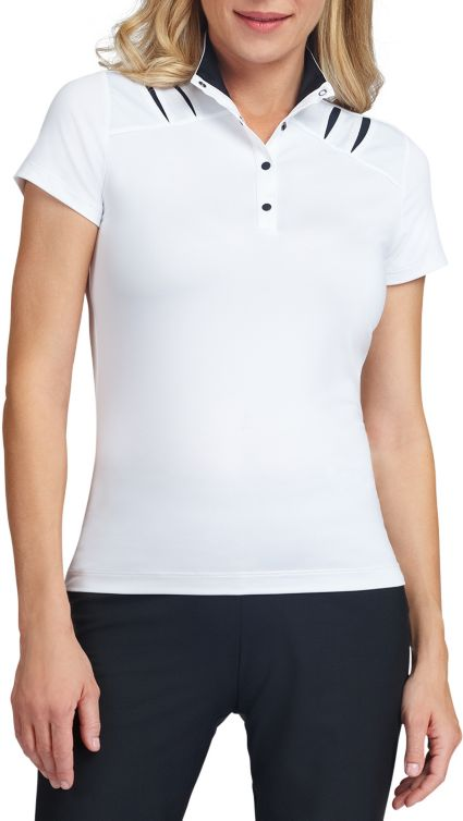 Tail Women's Snap Button Mock Neck Golf Polo