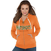 Touch by Alyssa Milano Women's Arizona Hotshots Glitter Orange Heathered Full-Zip Hoodie