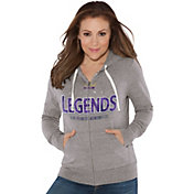 Touch by Alyssa Milano Women's Atlanta Legends Glitter Heather Grey Full-Zip Hoodie