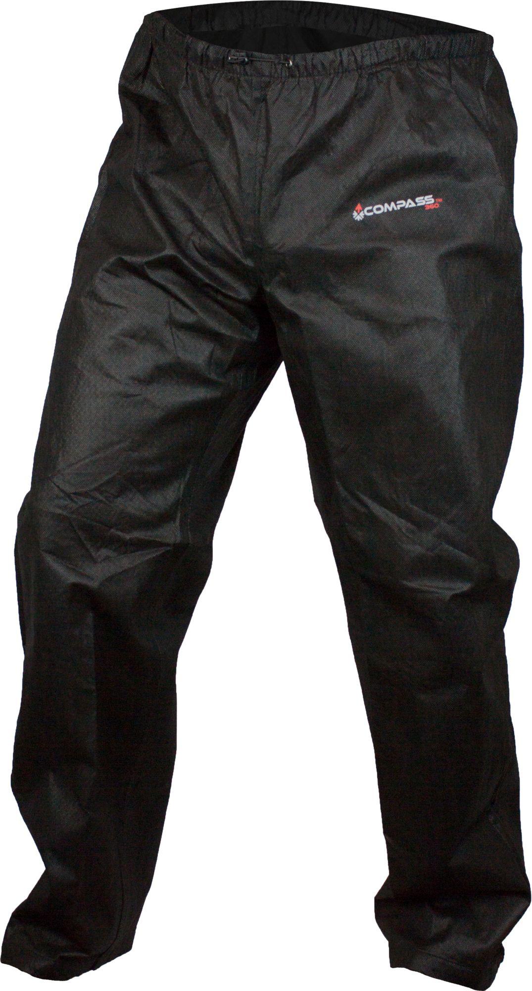 Compass 360 Men's AdvantageTek T50 Rain Pants, Large, Black