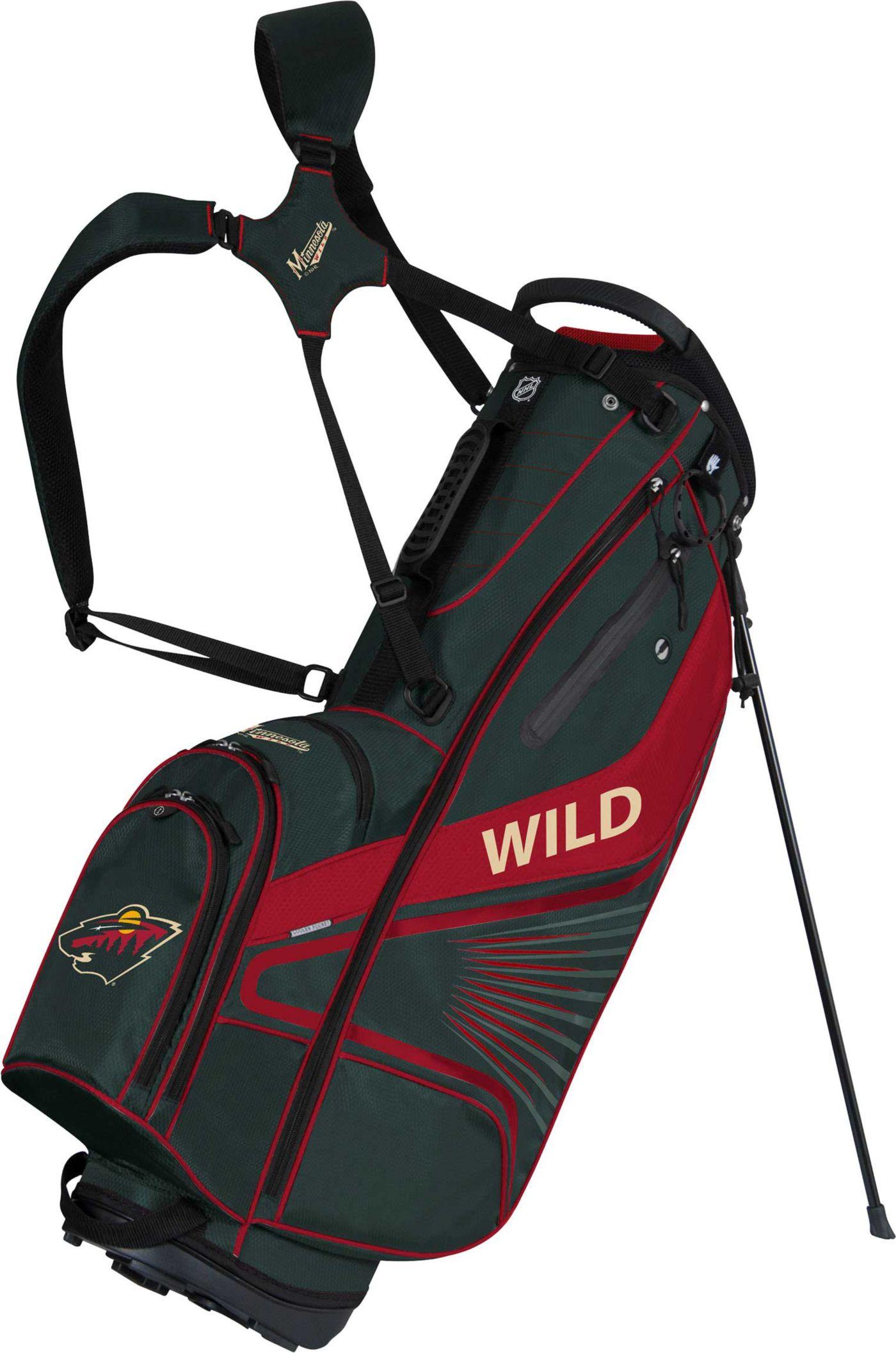Team Effort Minnesota Wild Gridiron III Stand Golf Bag