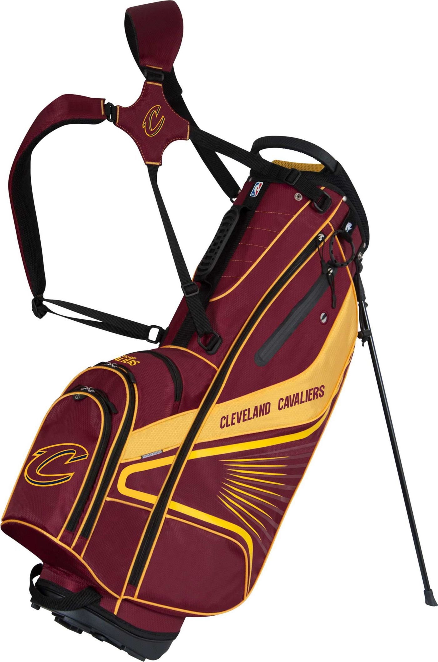 Team Effort Cleveland Cavaliers Gridiron III Stand Golf Bag
