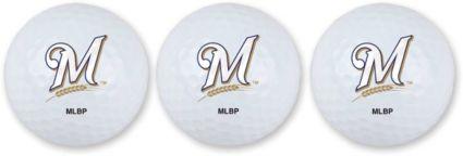 Team Effort Milwaukee Brewers Golf Balls - 3 Pack