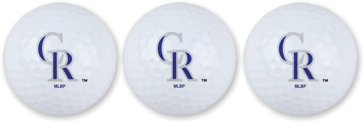 Team Effort Colorado Rockies Golf Balls - 3 Pack