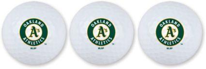 Team Effort Oakland Athletics Golf Balls - 3 Pack