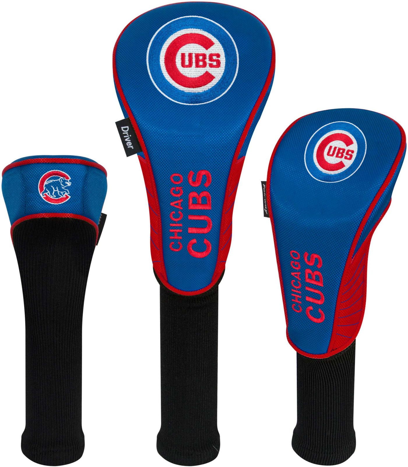 Team Effort Chicago Cubs Headcovers - 3 Pack