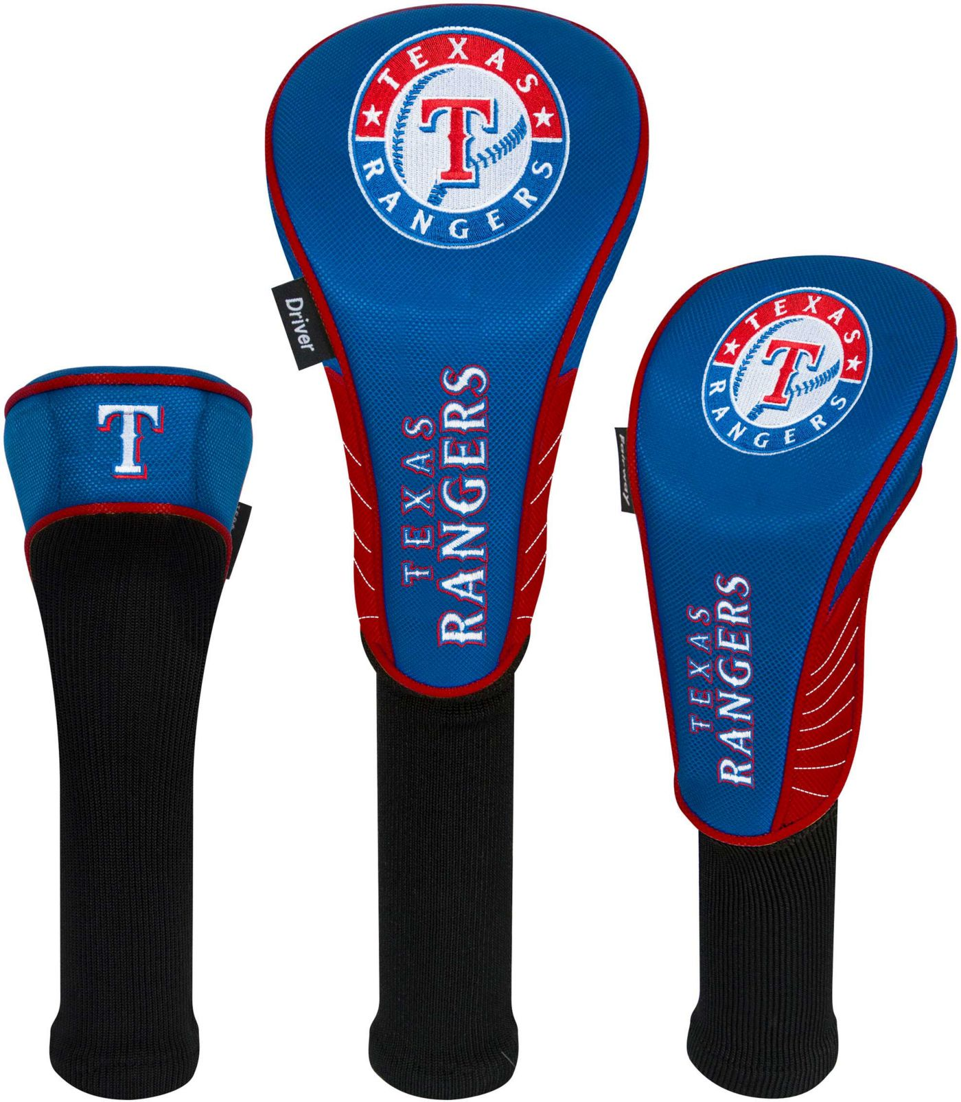 Team Effort Texas Rangers Headcovers - 3 Pack