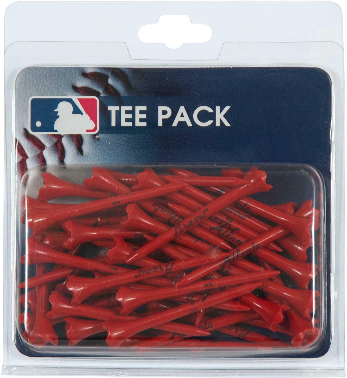 """Team Effort Atlanta Braves 2.75"""" Golf Tees - 40 Pack"""