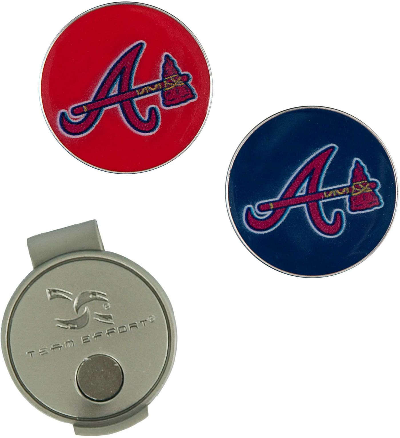 Team Effort Atlanta Braves Hat Clip and Ball Markers Set