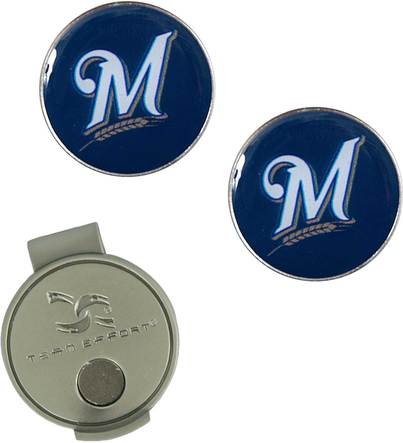 Team Effort Milwaukee Brewers Hat Clip and Ball Markers Set