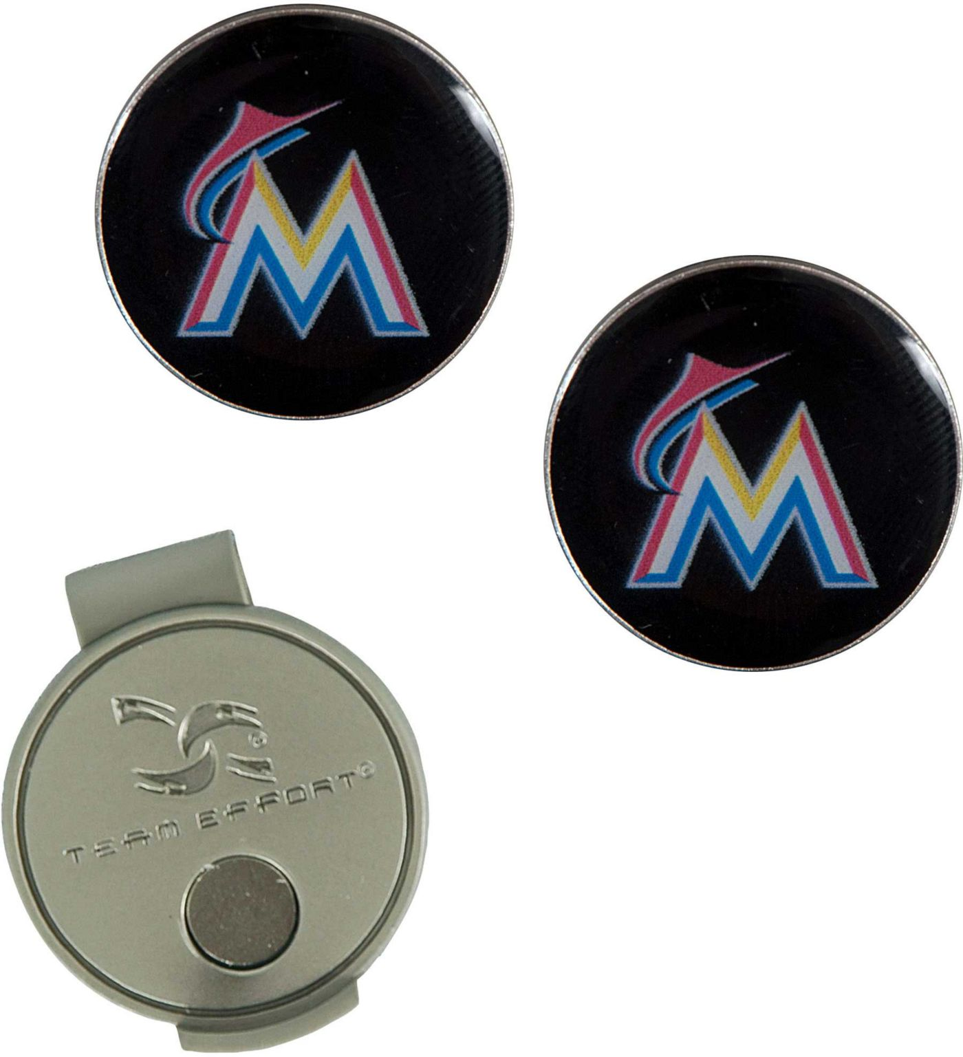 Team Effort Miami Marlins Hat Clip and Ball Markers Set