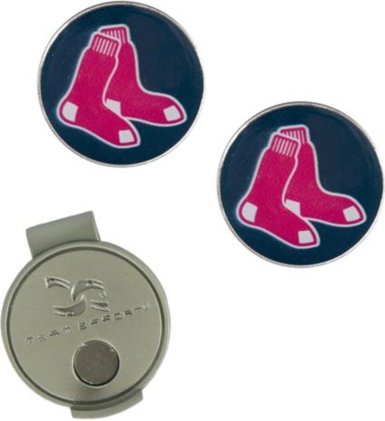 Team Effort Boston Red Sox Hat Clip and Ball Markers Set