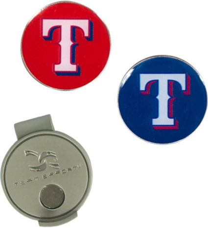 Team Effort Texas Rangers Hat Clip and Ball Markers Set