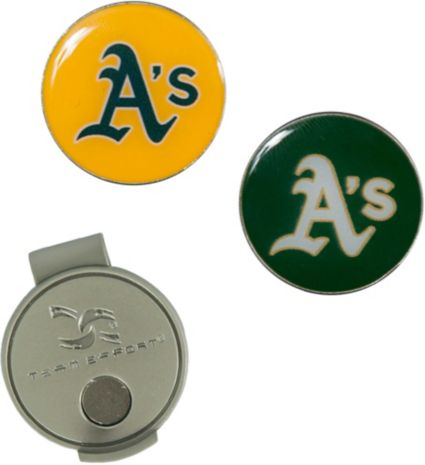 Team Effort Oakland Athletics Hat Clip and Ball Markers Set