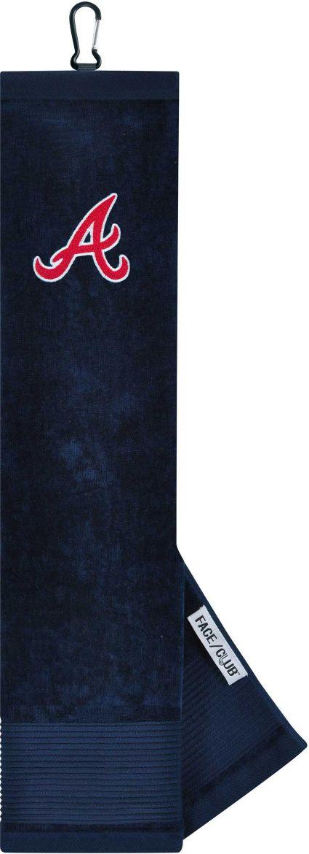 Team Effort Atlanta Braves Embroidered Face/Club Tri-Fold Towel