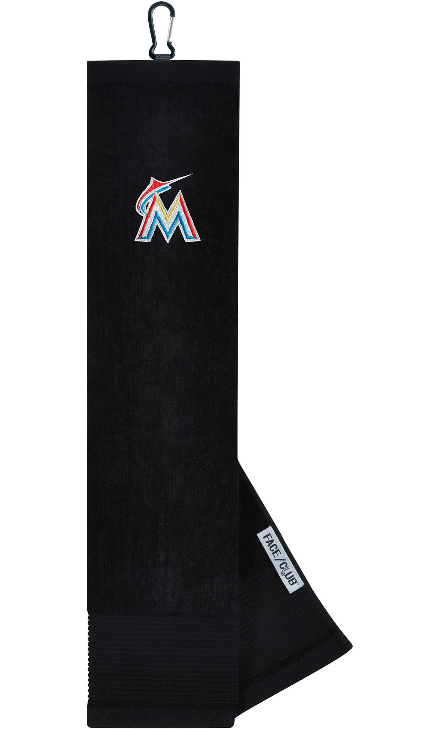 Team Effort Miami Marlins Embroidered Face/Club Tri-Fold Towel