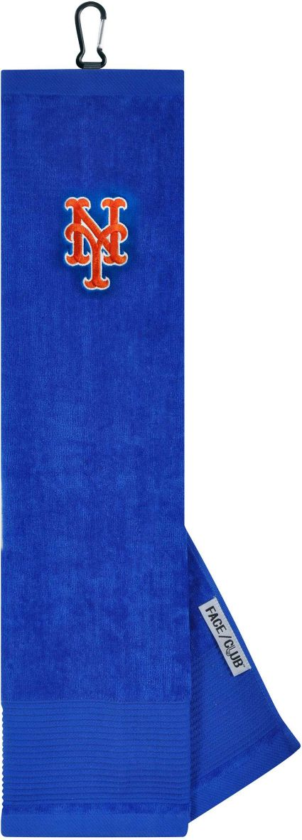 Team Effort New York Mets Embroidered Face/Club Tri-Fold Towel