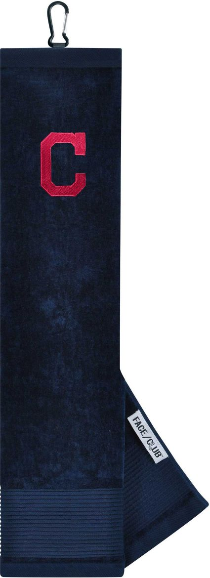 Team Effort Cleveland Indians Embroidered Face/Club Tri-Fold Towel