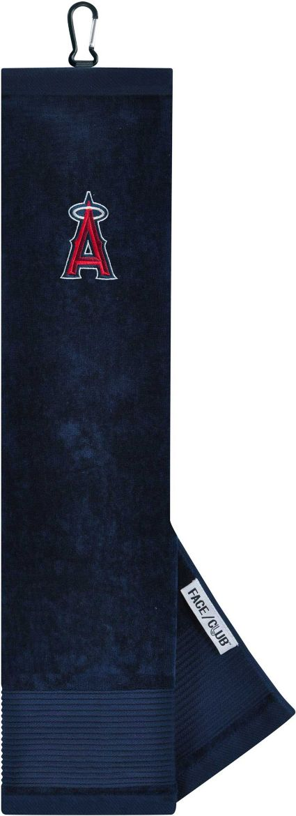 Team Effort Los Angeles Angels Embroidered Face/Club Tri-Fold Towel