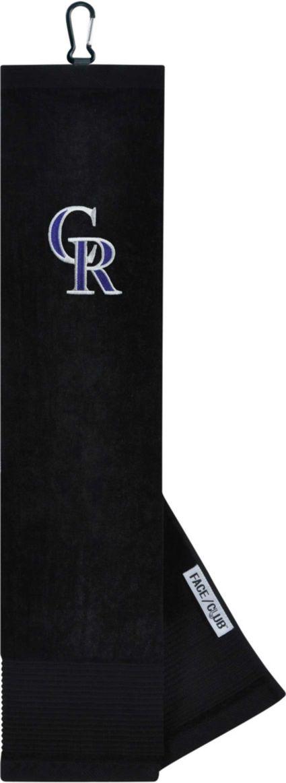 Team Effort Colorado Rockies Embroidered Face/Club Tri-Fold Towel