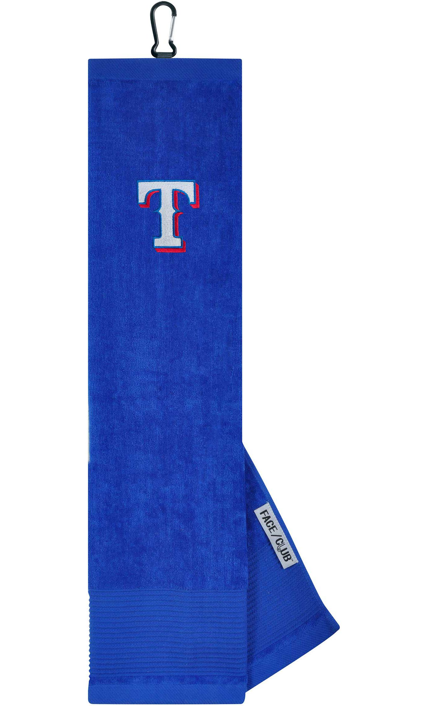 Team Effort Texas Rangers Embroidered Face/Club Tri-Fold Towel