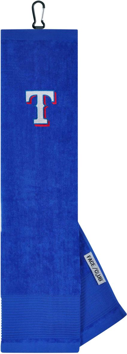 Team Effort Texas Rangers Embroidered Face/Club Tri-Fold Towel