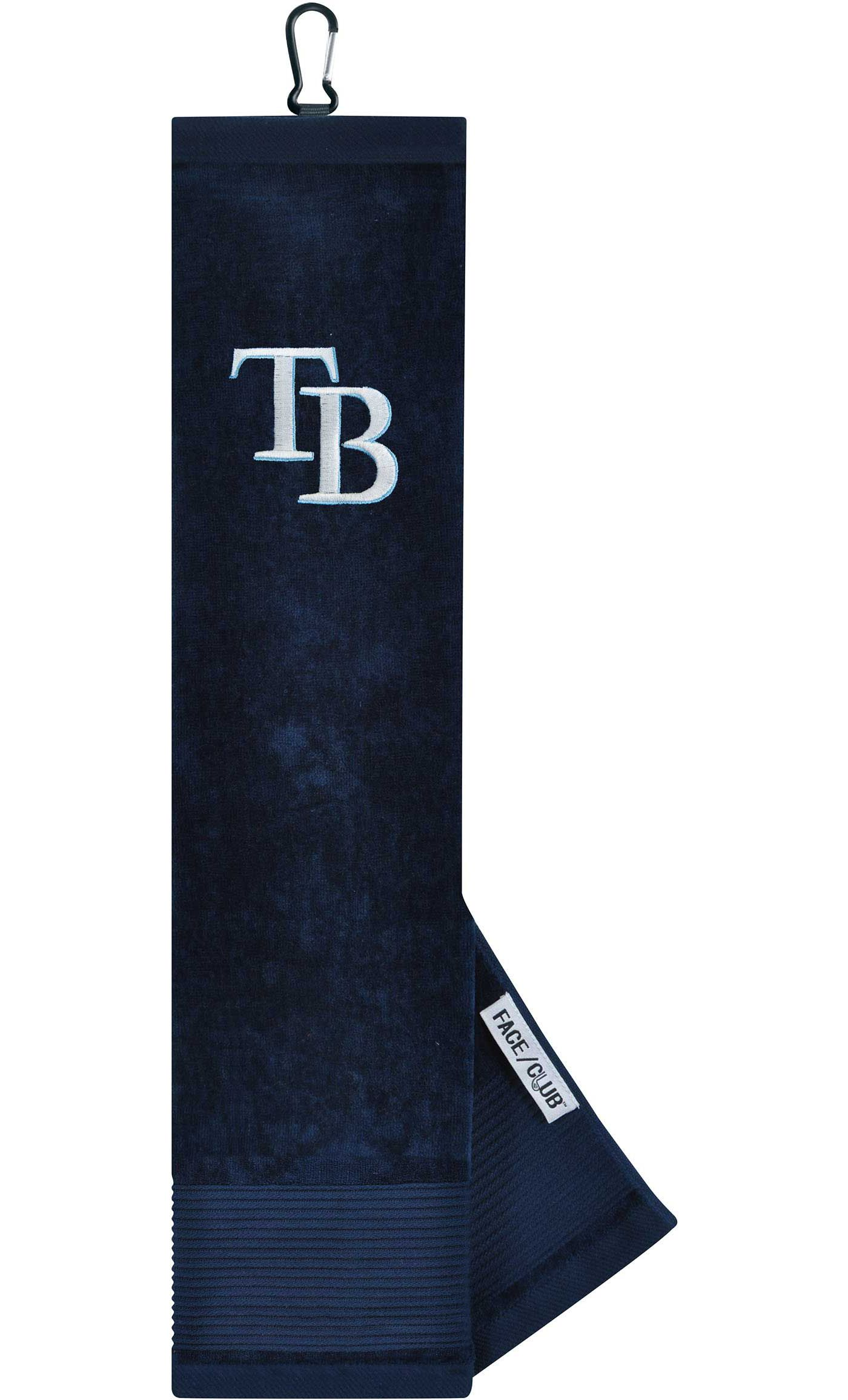Team Effort Tampa Bay Rays Embroidered Face/Club Tri-Fold Towel