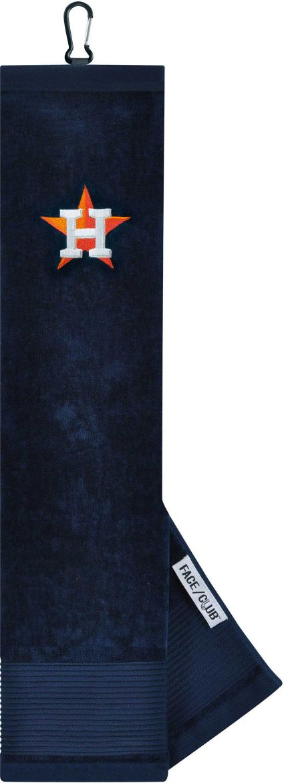 Team Effort Houston Astros Embroidered Face/Club Tri-Fold Towel