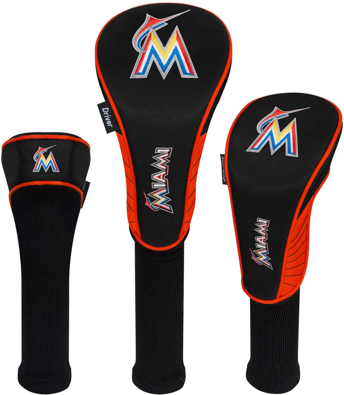 Team Effort Miami Marlins Headcovers - 3 Pack