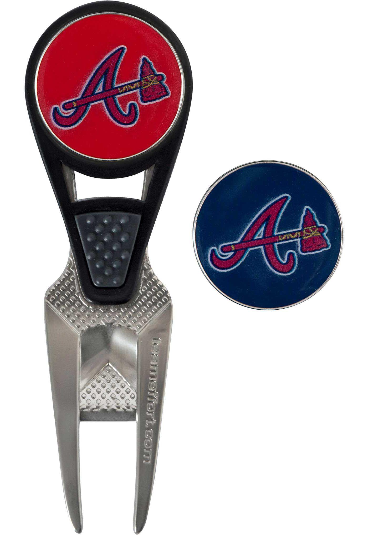 Team Effort Atlanta Braves CVX Divot Tool and Ball Marker Set