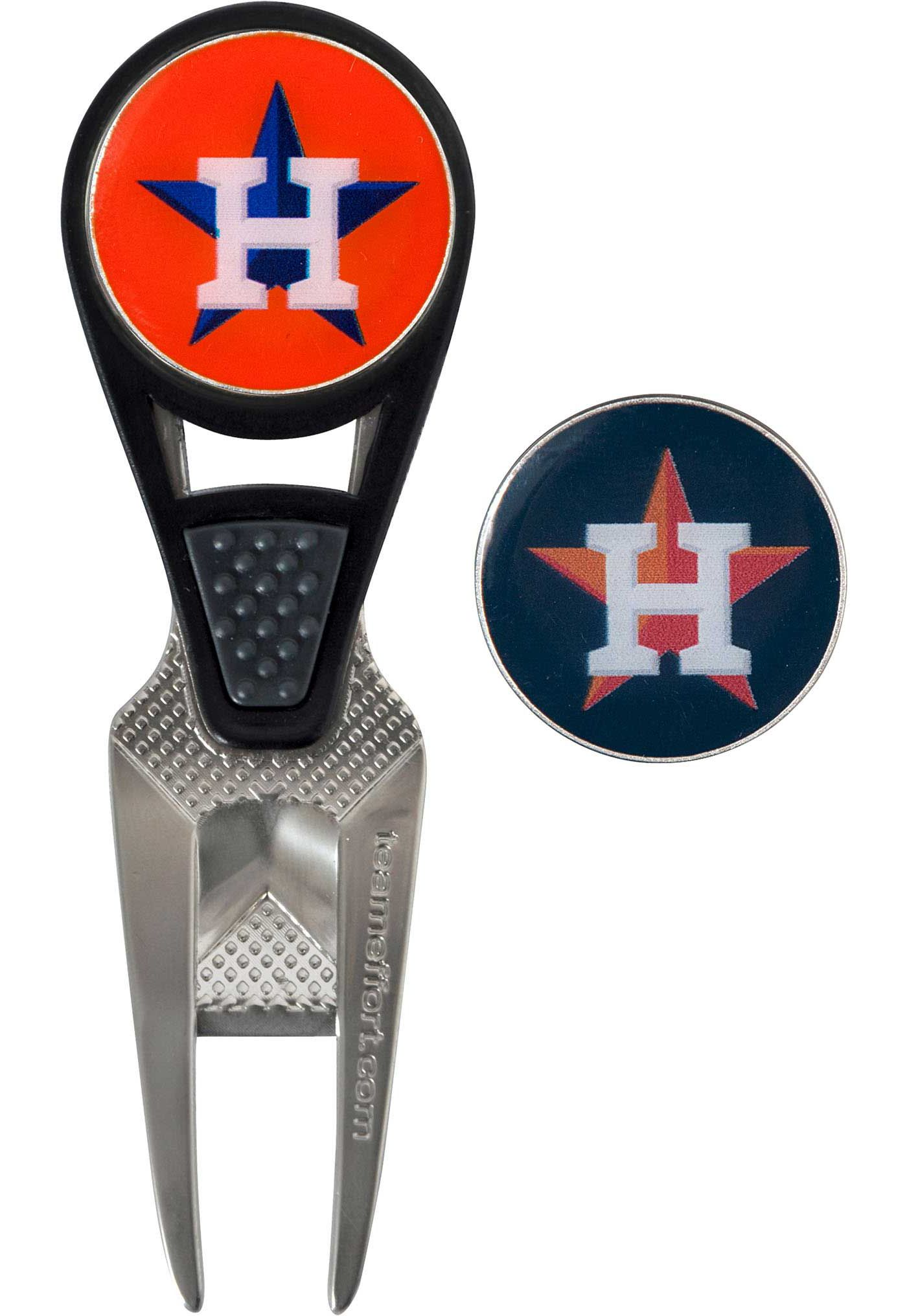 Team Effort Houston Astros CVX Divot Tool and Ball Marker Set