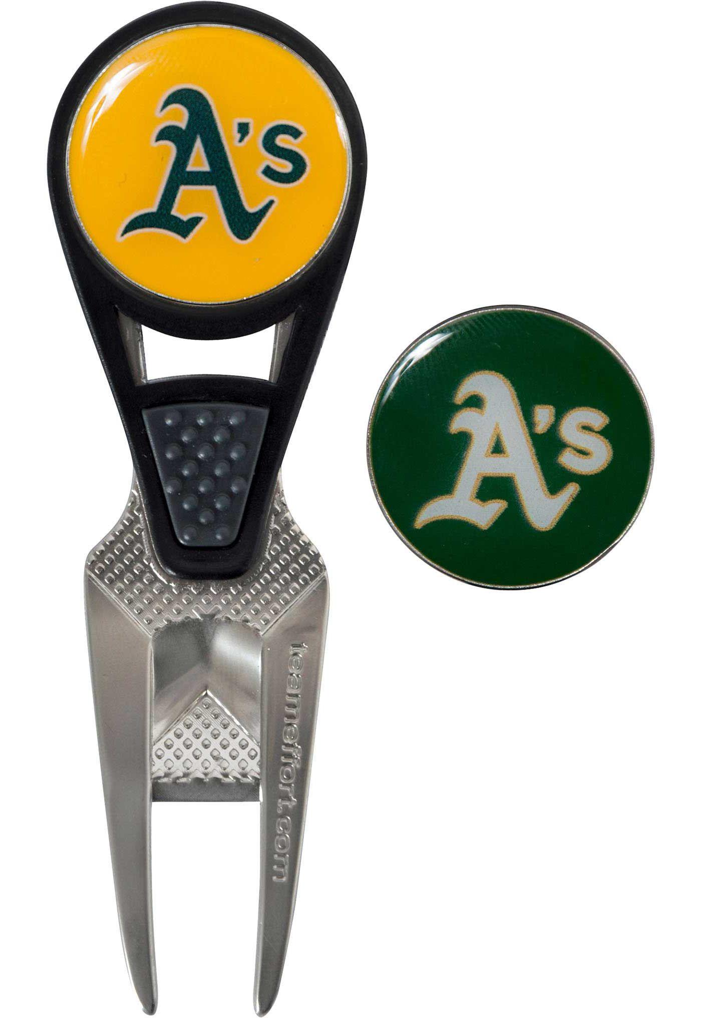 Team Effort Oakland Athletics CVX Divot Tool and Ball Marker Set