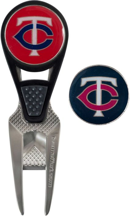 Team Effort Minnesota Twins CVX Divot Tool and Ball Marker Set