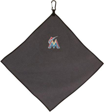 "Team Effort Miami Marlins 15"" x 15"" Microfiber Golf Towel"